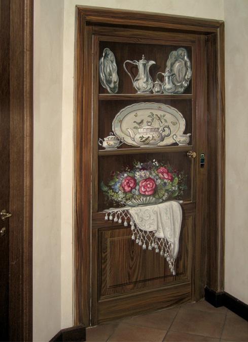 Trompe l'Oeils - Maurizio Magretti - dipinto su porta