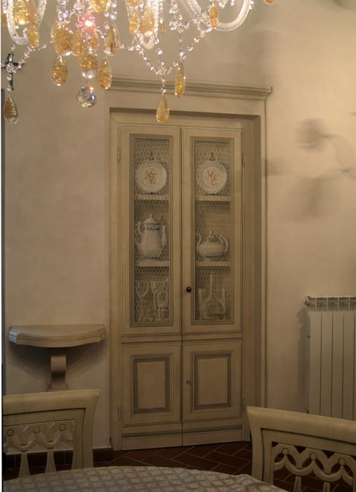 Trompe l'Oeils - Maurizio Magretti - vetrina dipinta su porta