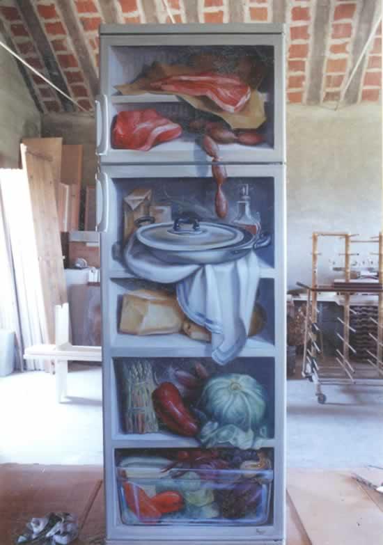 Trompe l'Oeils - Maurizio Magretti - frigo aperto