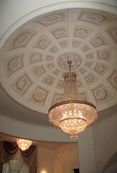 Villa a Mosca (Russia) - Finti cassettoni su soffitto a volta