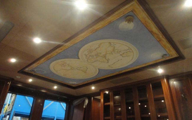 Maurizio Magretti - Dipinto su soffitto su Yacht