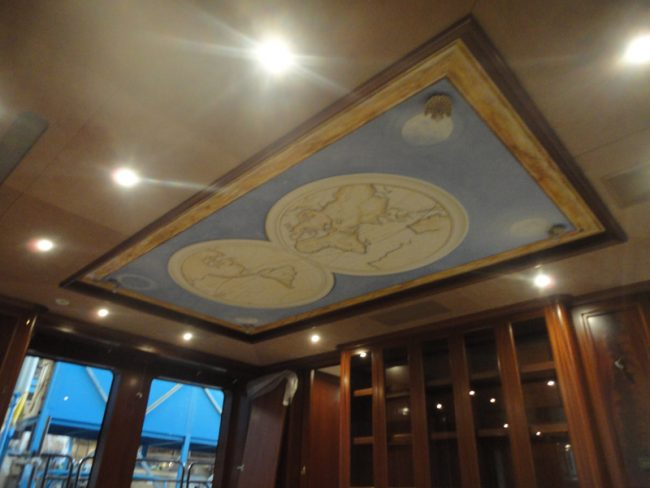 Maurizio Magretti - Painting on ceiling on a private yacht