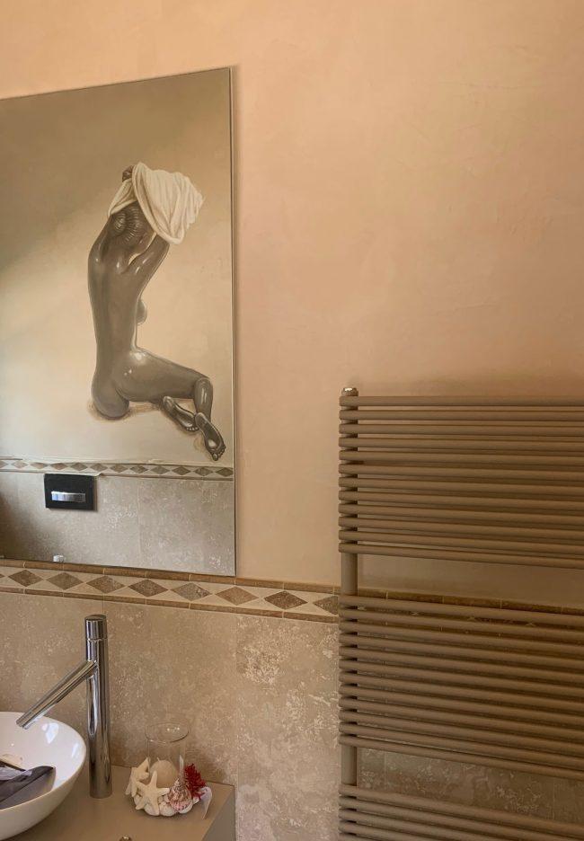 decori bagno donna trompe maurizio magretti pittore