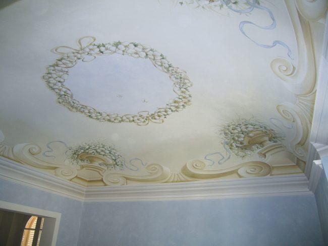Decorazioni classiche su soffitto - Maurizio Magretti Pittore