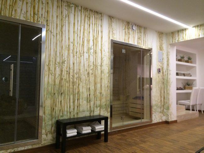 Decori su pareti con finti canneti - Maurizio Magretti