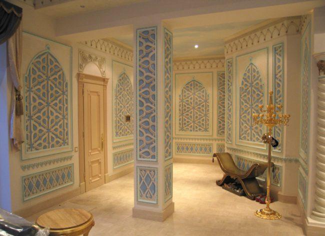 Decori su pareti - Piscina araba a Mosca (Russia)