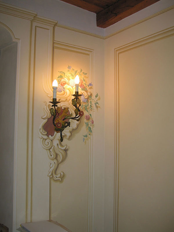 parete decoro floreale torino