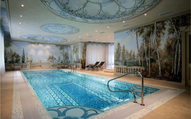 Paesaggio sui bordi della piscina - Maurizio Magretti