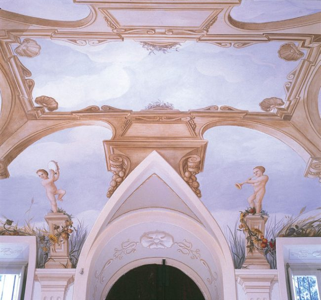 Soffitto Villa San Marco - Virtù cardinali