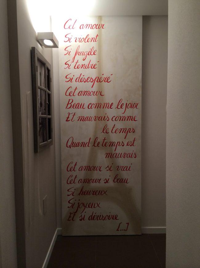 Poesia su parete - Maurizio Magretti Decorazioni Moderne