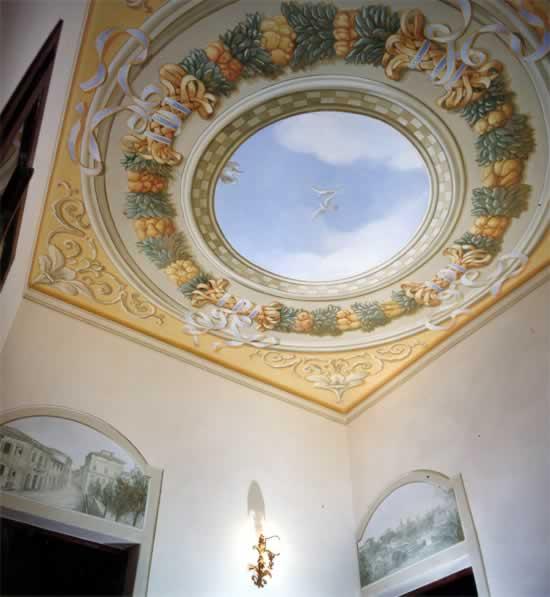 affresco soffitto - Villa San Marco, PISA