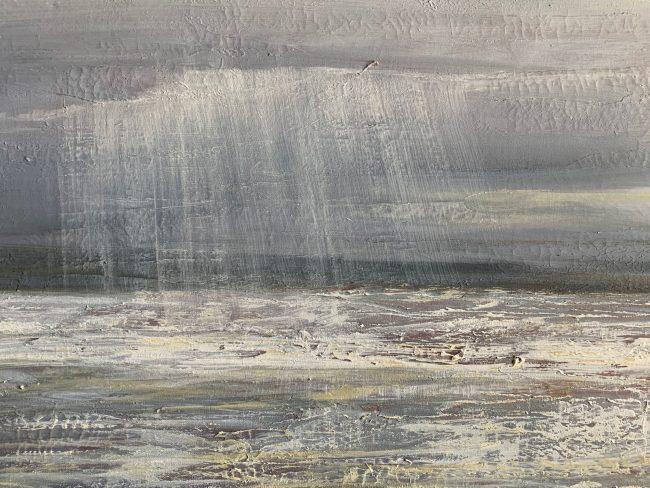 quadri spiaggia mare pioggia maurizio magretti pittore