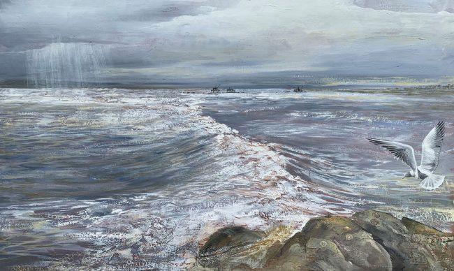 Esposizione artisti a Forte dei Marmi Maurizio Magretti Pittore - Mare in tempesta - dipinto